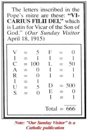 Vicarius Filii Dei 666