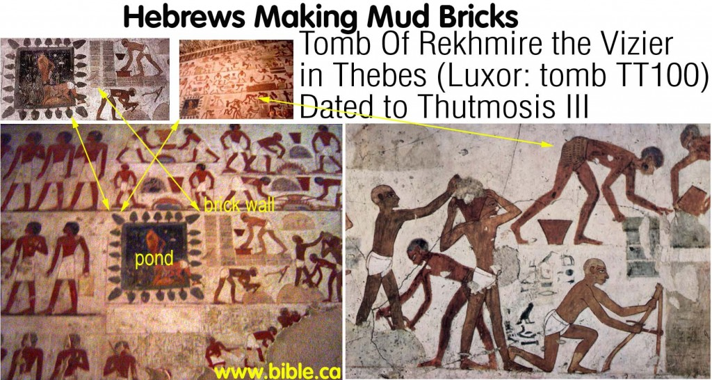 archeology-TT100-tomb-of-rekhmire-vizier-thutmosisIII-hebrews-making-mud-bricks-thebes-luxor